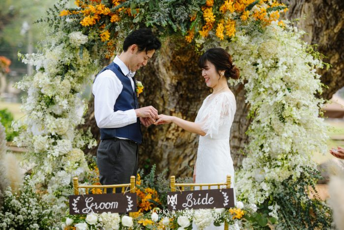 Saya and Hiroshi wedding picture